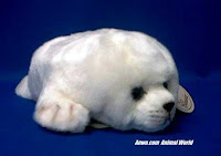 white harp seal pup plush stuffed animal toy