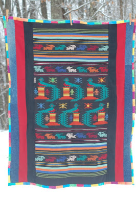 Quetzal window quilt