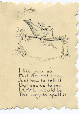another 1924 children's Valentine, back