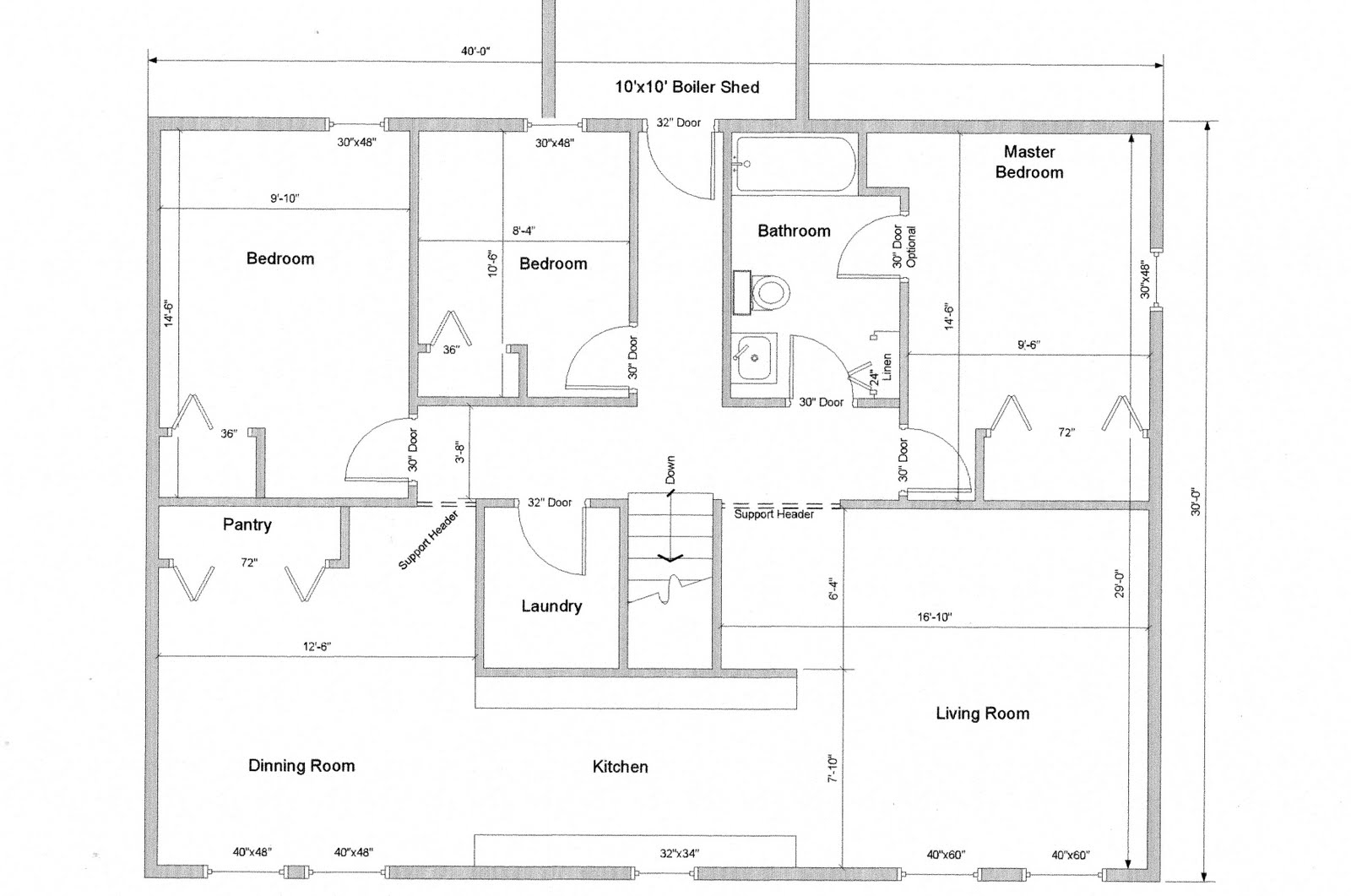 Building North on the Rock: House-Church floor plan