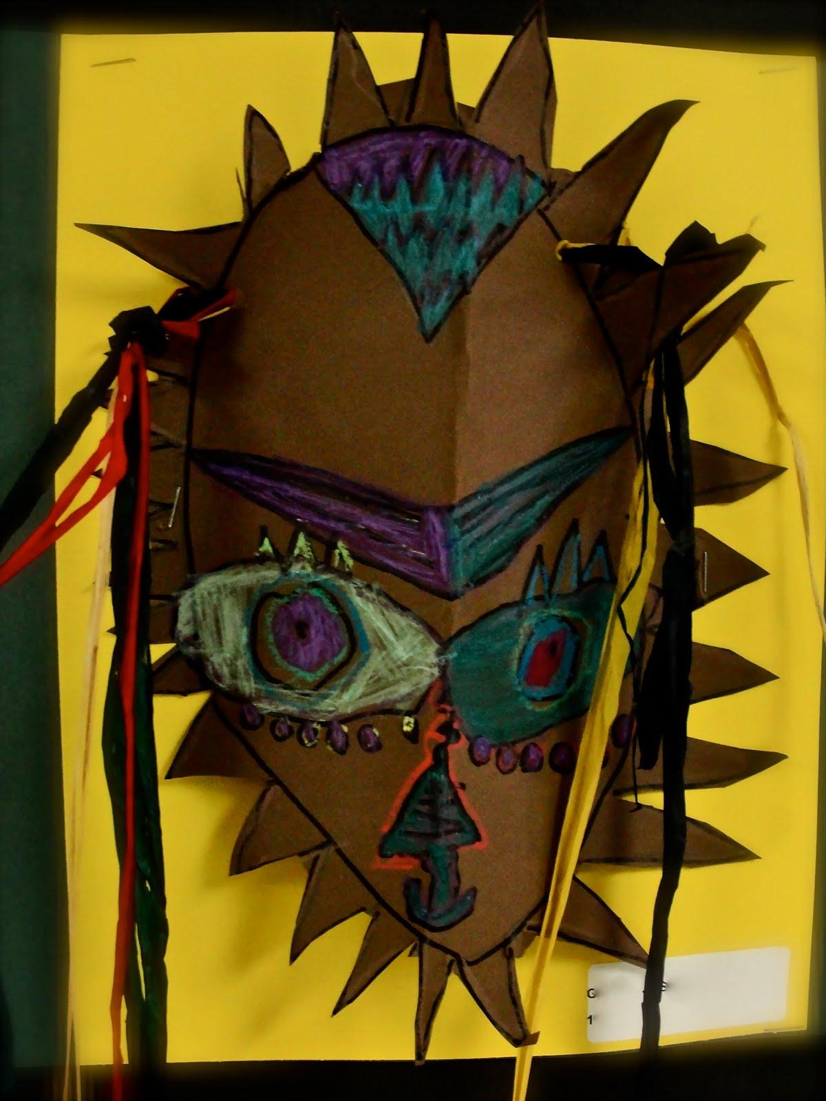Da Vinci S Wings 1st Grade Mask Making