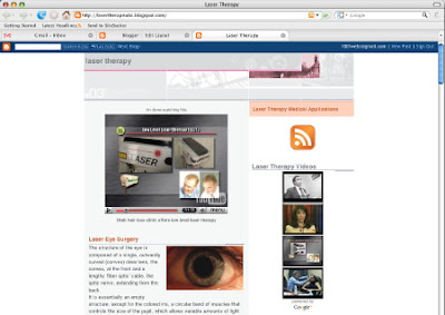 Screenshot of the Laser Therapy Blog