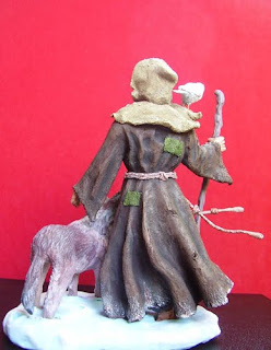 Orme Magiche Statua Scultura San Francesco statuetta statuette santo fatto a mano santi fatti a mano statuine presepe artigianali