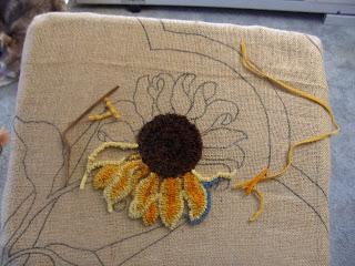Sunshower Quilts Rug Hooking Sunflowers