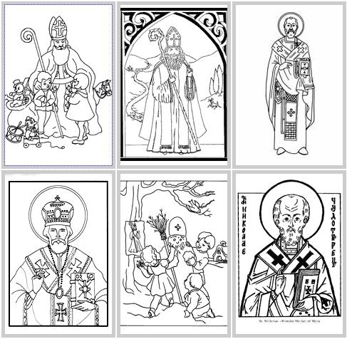 Saint nicholas printable coloring pages for St nicholas coloring pages