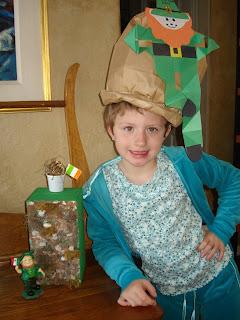 girl wearing leprechaun hat