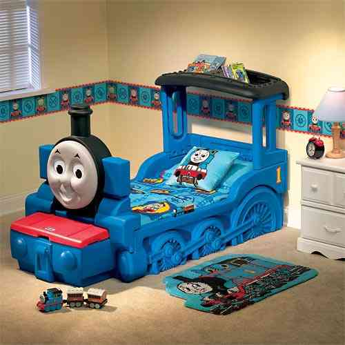 Cama de Tomas el Tren Thomas and friends via wwww.dormitorios.blogspot.com