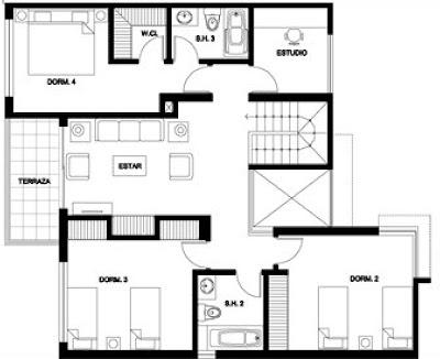 Planos de casas rurales mts vivienda premoldeada y for Planos de casas rurales