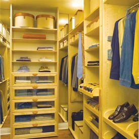Walk in closets for Walking closet modernos pequenos