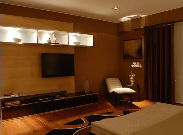 Dormitorio principal en tonos marrones por karim chaman for Decoracion de dormitorio principal