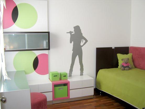 Decoracion dise o lindo dormitorio habitaci n para for Decoracion para pared fucsia