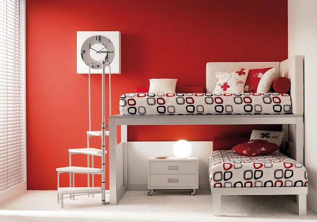 Dormitorio juvenil rojo y blanco by - Dormitorio negro y rojo ...