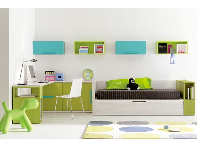 Dormitorios juveniles y modernos for Juego de habitacion moderno