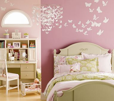 Dormitorios con mariposas for Cuartos decorados kawaii