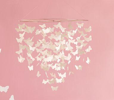Dormitorios con mariposas - Lamparas para habitaciones infantiles ...