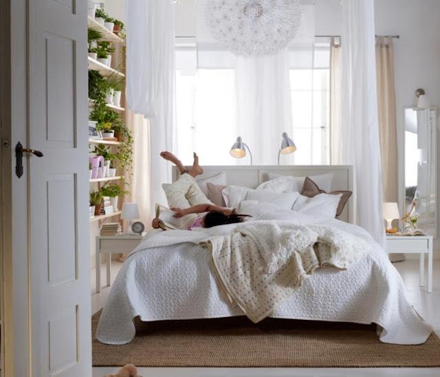 Plantas en el dormitorio plantas en la habitacion es - Habitaciones blancas ikea ...