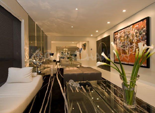 Designs omah ideas sala moderna elegante y lujosa con for Decoracion de casas modernas y elegantes