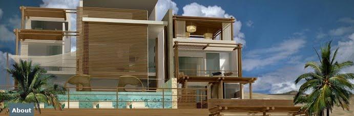 Fachada rustica y elegante de hotel boutique frente al mar for Fachadas de almacenes modernos