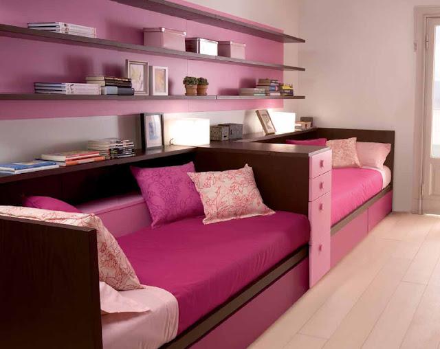Dormitorio para hermanas habitacion rectangular para 2 for Recamaras para jovenes