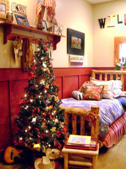decoracion de dormitorios en navidad christmas bedroom