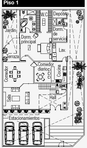 Planos de casa en esquina planos de casas gratis y for Departamentos minimalistas planos
