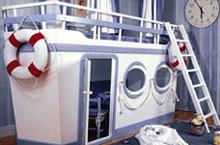 dormitorio marinero dormitorio pirata con cama barco