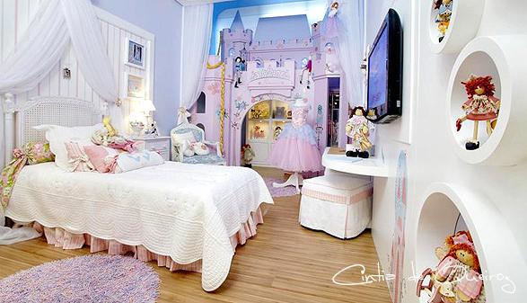 Cintia de queiroz dormitorio de ni a con castillo de princesa for Habitaciones infantiles para nina 2 anos