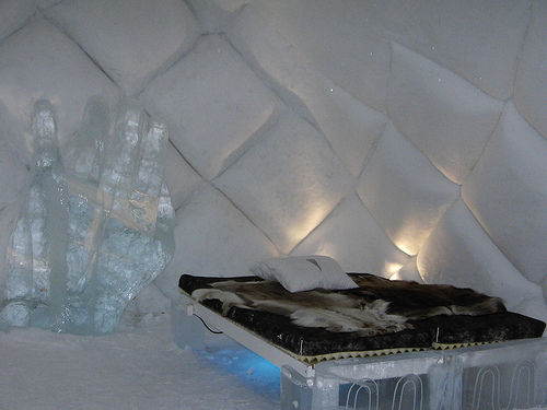Dormitorio DE HIELO DEL QUEBEC ICE HOTEL BEDROOMS