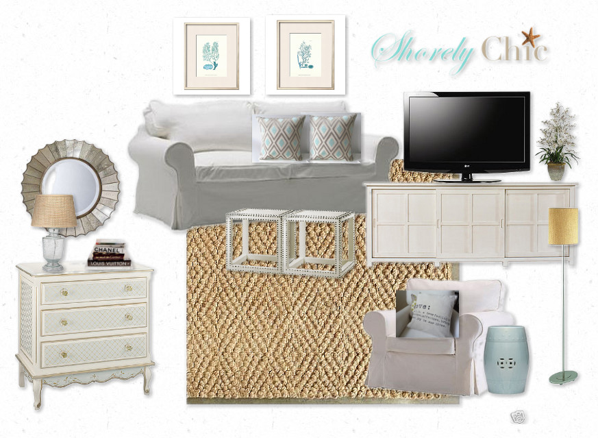coastal chic living rooms shorely chic coastal chic living room inspiration board 16558