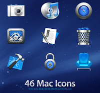 Get all P C beauties   : 40+ MAC OS X Style Icons (PNG & ICO)