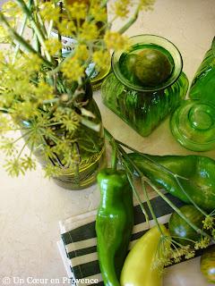 un coeur en provence se mettre au vert. Black Bedroom Furniture Sets. Home Design Ideas