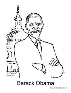President Barack Obama coloring page | Free Printable Coloring Pages | 320x247