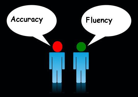 Fluency and accuracy in english