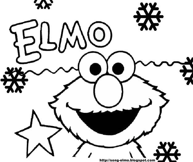 elmo and friends coloring pages | ELMO'S SONG