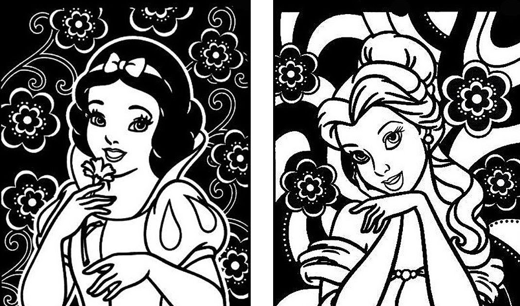 Interactive Magazine: SNOW WHITE COLORING PAGES