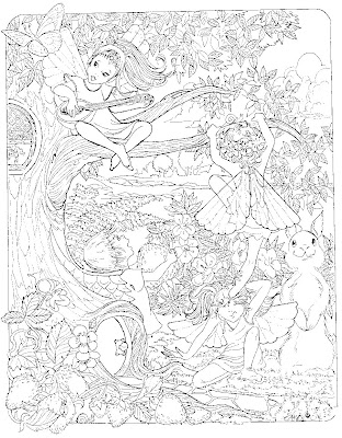 Tinkerbell coloring sheets october 2012 for Very detailed coloring pages