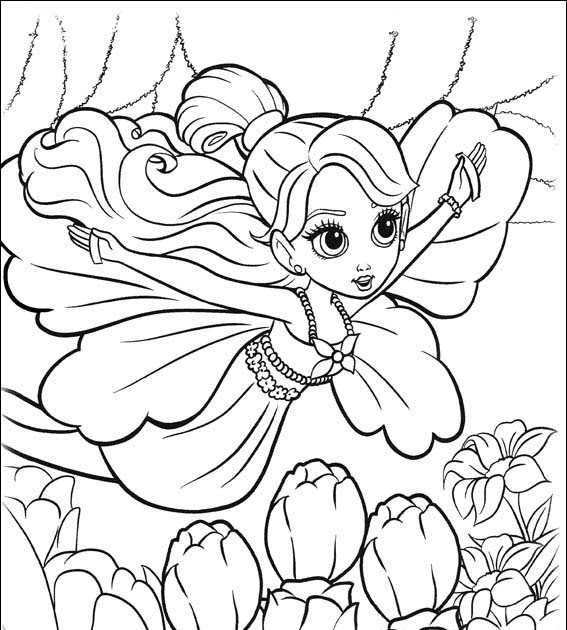 BARBIE COLORING PAGES: BARBIE AS THUMBELINA COLORING PAGES
