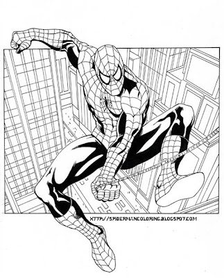 More cartoon characters coloring pages. Spiderman Coloring Spiderman Theme Coloring Pictures