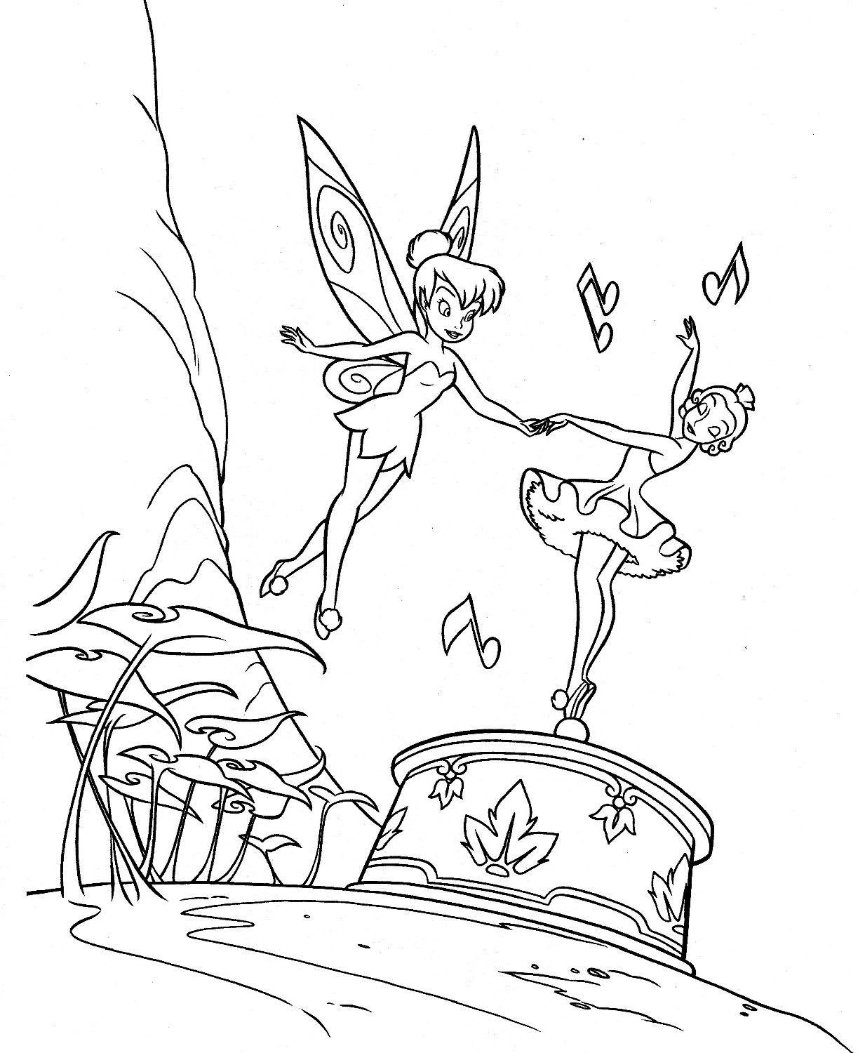 coloring pages of tinkerbell and her fairy friends laura williams