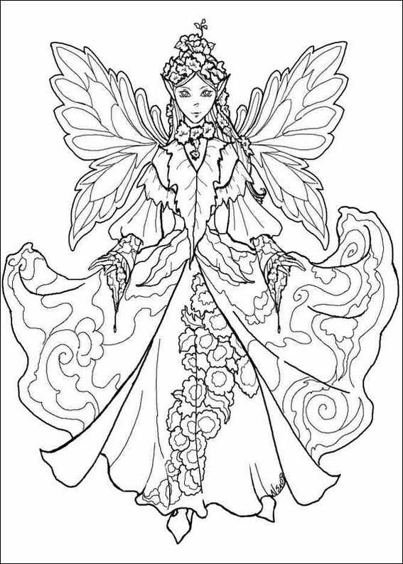 Printable fairies coloring pages ~ FAIRY COLORING PAGES