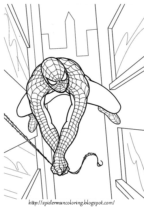 full page coloring pages spiderman 3 | SPIDERMAN COLORING: SPIDERMAN PRINT AND COLOR - COLORING ...