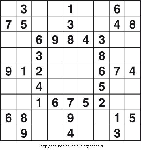 free printable sudoku games: Easy Sudoku Puzzles 4printfreegames