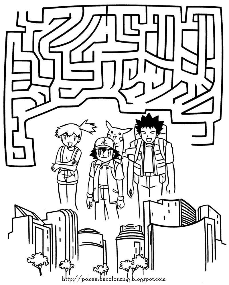 pokemon sheets are fun here 39 s a maze for you to try