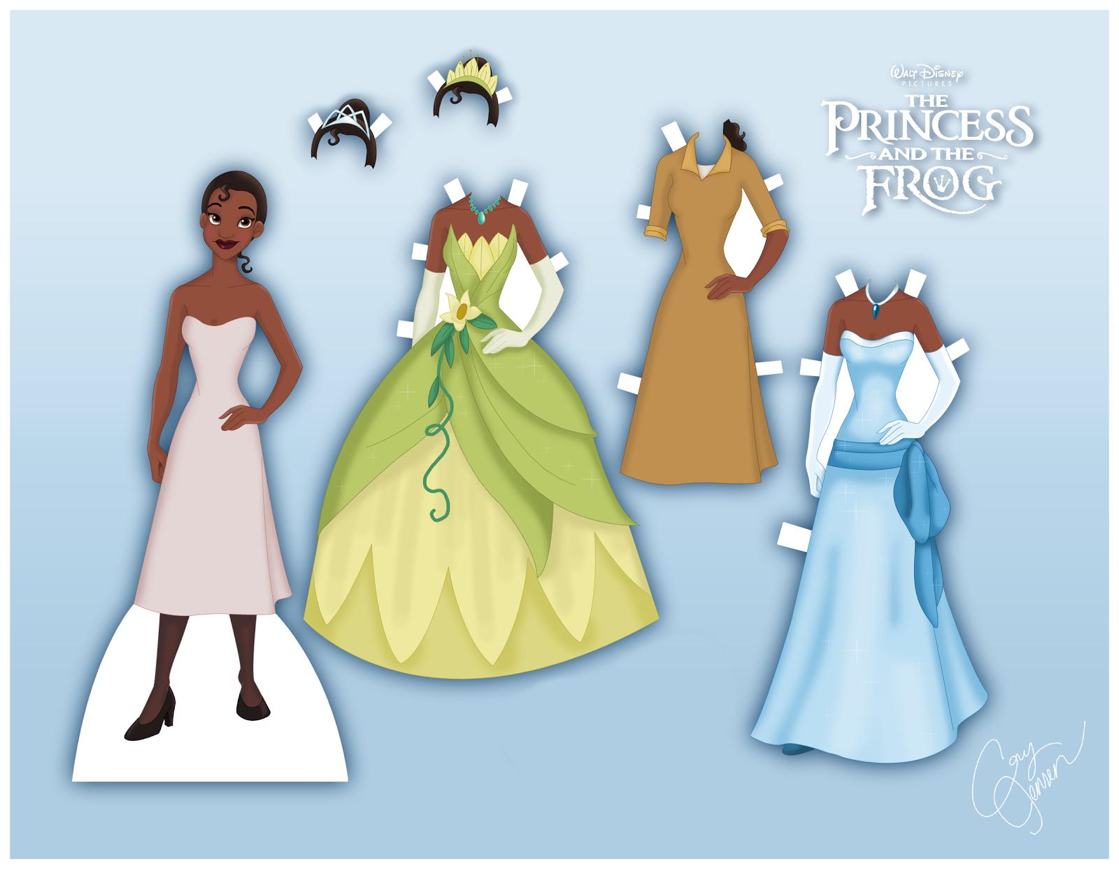 interactive magazine princess tiana printable paper doll activity. Black Bedroom Furniture Sets. Home Design Ideas
