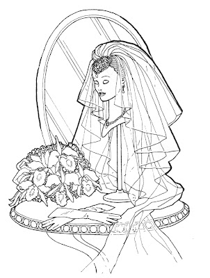 BARBIE COLORING PAGES: BARBIE BRIDE AND BARBIE SUPERSTAR