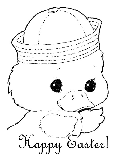 Tattoo kayu: coloring pages easter chicks