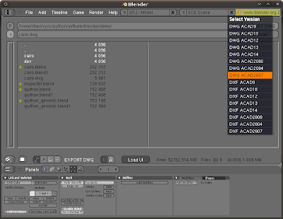SPE IDE - Stani's Python Editor: DWG support for Blender