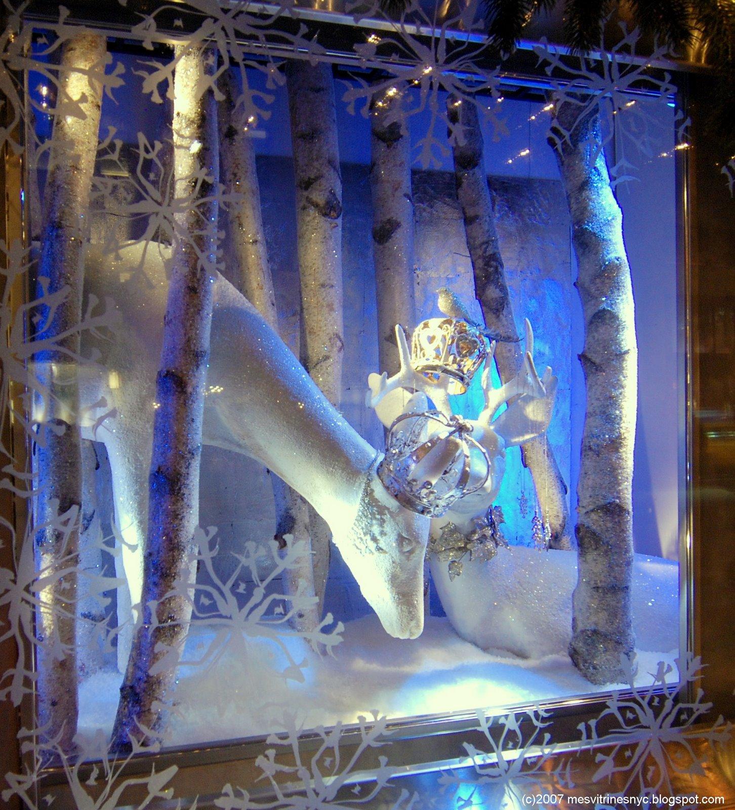 Decoration De Noel Vitrine Blanche