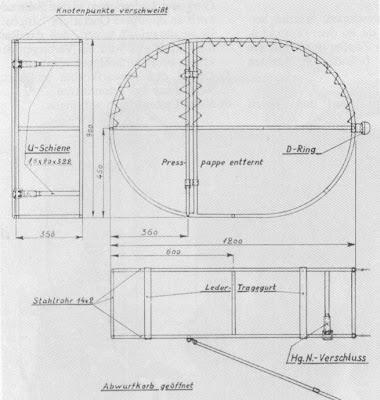 Схема чехла для складного велосипеда парашютиста.