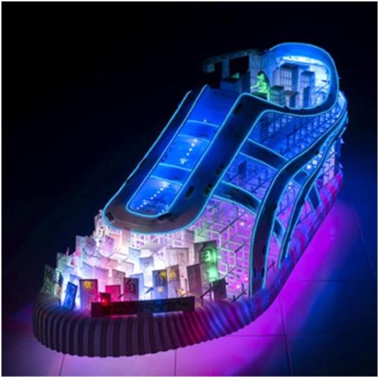 "Every Thing Is Futuristic: NEON ELECTRIC SHOE ""FUTURISTIC"